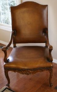 2 Theodore Alexander Hand Carved Chairs #4100-027