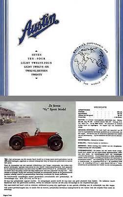 Austin Four Light - Austin 1934 - Austin Seven, Ten-Four, Light Twelve Four, Light Twelve Six (In Du