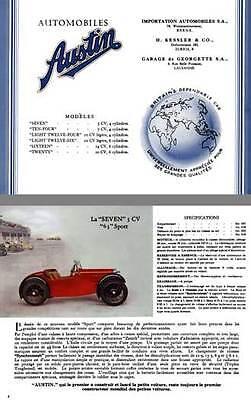 Austin Four Light - Austin 1934 - Austin Seven, Ten-Four, Light Twelve Four, Light Twelve Six (In Fr