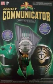 Power Rangers Green White Legacy Communicator Bandai Tommy Oliver Mighty Morphin