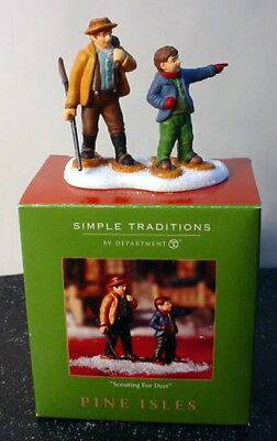 2002 Retired Department Dept 56 Pine Isles Scouting for Deer New in box 56.05952