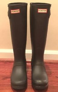 Women's Hunter Boots - Matte Black Size 9