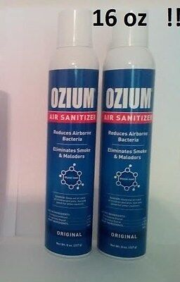 2 NEW OZIUM ORIGINAL 8 oz Air Freshener CANS Air Sanitizer Smoke Odor Eliminator