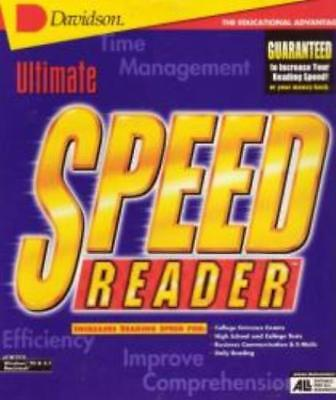 Ultimate Speed Reader PC MAC CD students learn to read faster, understand