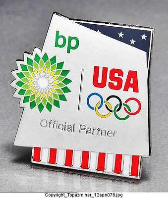 Olympic Pins 2012 London England Uk Bp Petro Sponsor Partner Team Usa Flag Rings
