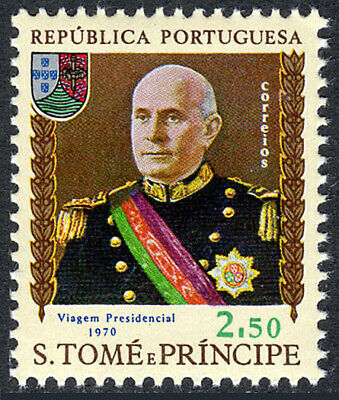 St Thomas & Prince Islands 402, MNH. Pres. Americo Rodrigues Thomaz, 1970
