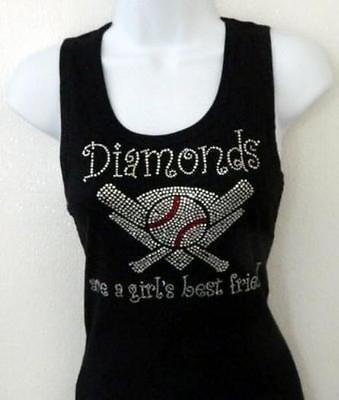 Diamonds are a Girls Best Friend - baseball  tee shirt - PLUS SZ (Best Baseball Tees)