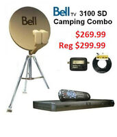 Bell combo,Tripod,Receiver,Cable,Bell Satellite dish