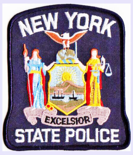 POLICE PATCH NEW YORK NY STATE PATROL EXCELSIOR EMPIRE STATE JUSTICE HARBOR