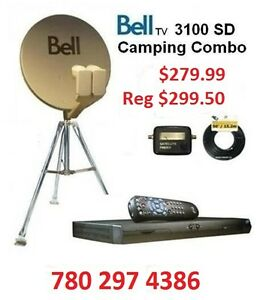 Bell combo,Tripod,Receiver,Cable,Bell Satellite dish,CAMPING