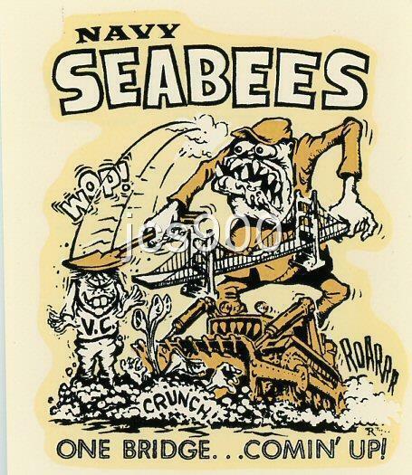 VINTAGE ORIGINAL ED ROTH WATER DECAL NAVY SEABEES VIETNAM ERA CHOPPER BIG DADDY