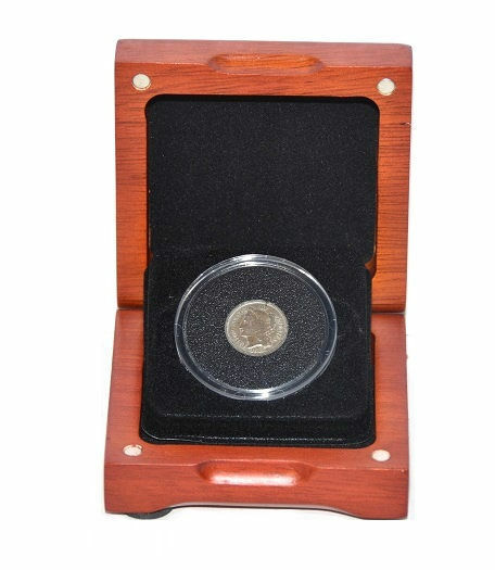 First Commemorative Mint Three Cent Nickel With Wood Box