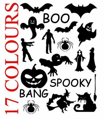 Halloween Spooky Scary Vinyl Decal Stickers Car Wall Window Glass Craft Art
