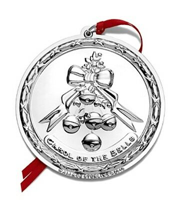 2010 Wallace Carol of the Bells Song Sterling Silver Christmas Ornament 11th Ed. Christmas Carol Of The Bells