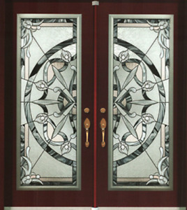 Wrought iron glass inserts door glass inserts For front doors