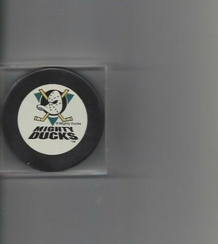 Old Disney Mighty Ducks Hockey Puck Free Shipping