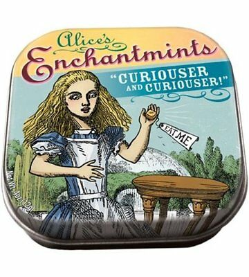 Alice In Wonderland Enchantmints in Illustrated Tin Box 4 ounces, NEW SEALED