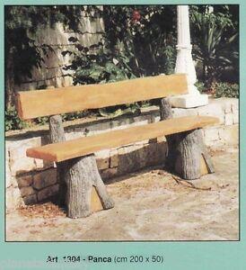 Panca effetto legno arredo da giardino statua statue in for Arredo giardino in cemento