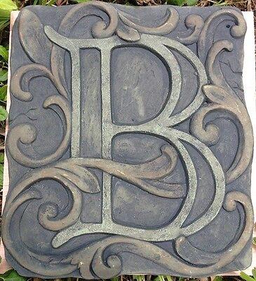 B Stone, plaque, stepping stone,  plastic mold, concrete mold, cement, plaster
