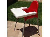 IKEA Red High Chair