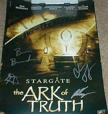 Ben Browder Chris Judge signed auto Stargate Ark of Truth 2007 SDCC movie poster