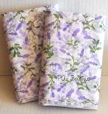 Lavender Fields Purple & Green Floral Tissue Paper Gift Wrapping 20