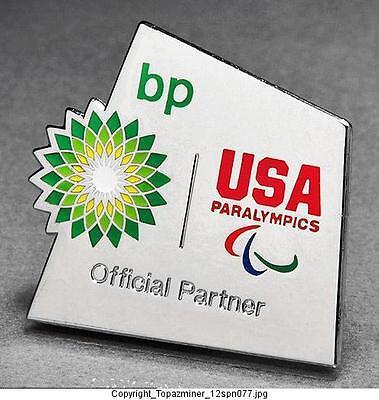 Olympic Pins 2012 London England Uk Bp Petro Sponsor Partner Team Usa Paralympic