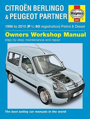 Haynes Manual 4281 Citroen Berlingo 1.4 1.6 Multispace Van 1996-2010 NEW