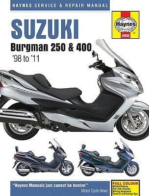Haynes Suzuki Burgman 250 & 400 Scooter 1998 - 2011 Manual NEW 4909