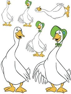 Cartoon-Mr-and-Mrs-Goose-Great-for-Kids-Furniture-and-Toys-Waterslide ...