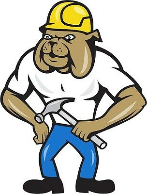 30 Custom Construction Bulldog Personalized Address Labels