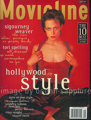 Sigourney Weaver Patsy Kensit Tori Spelling Valentino Interview 1997 Magazine