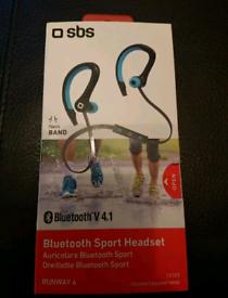 Sbs Sport bluetooth headset running earphones
