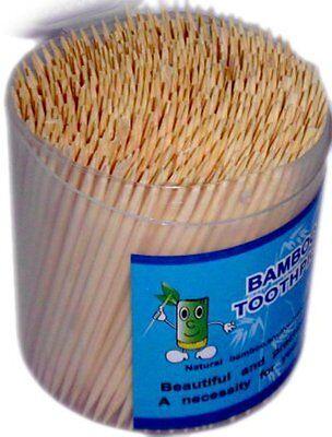 500 Zahnstocher Zahnstäbchen Stocher für Zähne Bambus Holz rund