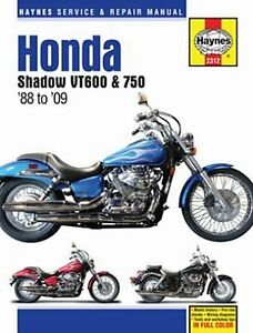 1988-2009 Honda VLX 600 VT 750 Shadow Spirit MANUAL