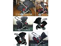 Dimples Duo Tandem Double Pram Buggy