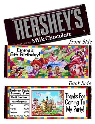 Candyland Baby Shower (12 Candyland Birthday Party Or Baby Shower Candy Hershey Bar Wrappers)
