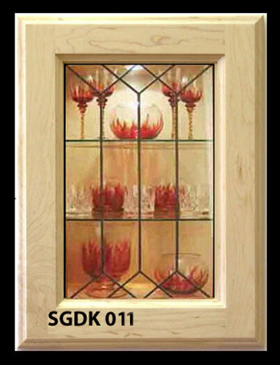 Kitchen Cabinet Glass Door Inserts to upgrade existing or new Cabinets SGDK 011