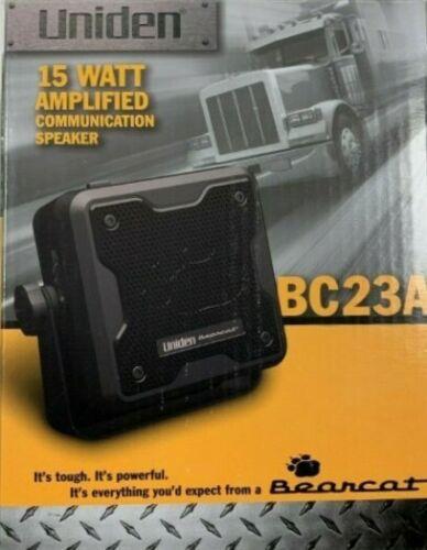 Uniden BC23A Bearcat 15-Watt Amplified External Communications Speaker NEW