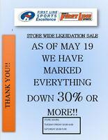 Store Closing!! Liquidation Sale