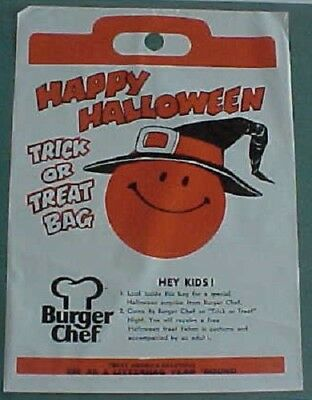 1970s Burger Chef Halloween Trick or Treat bag & Fla-Vor-Ice prize - Halloween Coupon