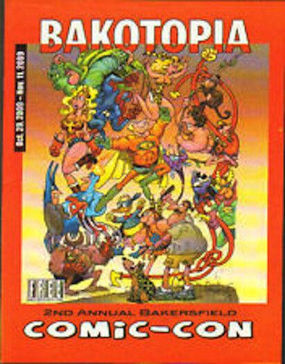 RARE! BAKATOPIA MAGAZINE 2010 Bakersfield Comic-Con Issue SERGIO ARAGONES Cover