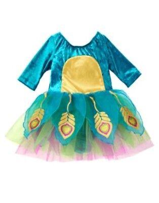 GYMBOREE HALLOWEEN PEACOCK 1-PC COSTUME DRESS 18 24 NWT