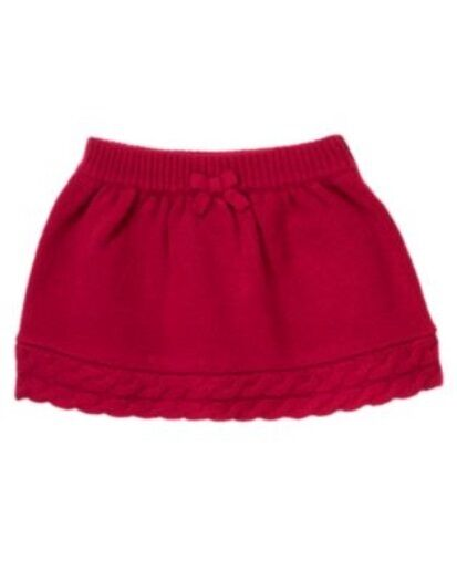 GYMBOREE ALPINE SWEETIE RED CABLE TRIM SWEATER SKIRT 18 24 2T 3T 4T 5T NWT