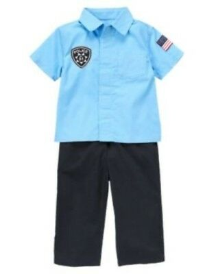 Halloween Costume Police Officer (GYMBOREE Halloween Police Officer 2-PC COSTUME 6 12 18 24 2t 3t 4t 5t!)
