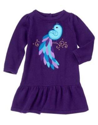 GYMBOREE WINTER PEACOCK PURPLE PEACOCK SWEATER DRESS 6 12 18 24 2 3T 4T 5T NWT