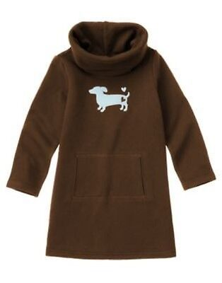 GYMBOREE GIRLS BEST FRIEND BROWN w/ DOG SWEATSHIRT DRESS 4 5 6 9 10 12 (Best Girls Dresses)