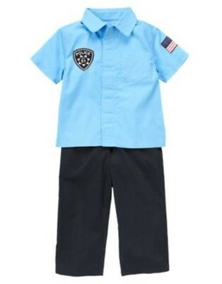 GYMBOREE HALLOWEEN POLICE OFFICER 2-PC COSTUME 6 12 18 24 2T 3T 4T 5T - Pc Police Officer
