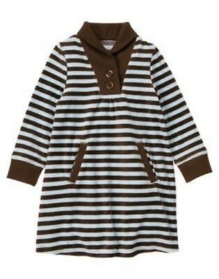 GYMBOREE GIRLS BEST FRIEND BROWN STRIPED VELOUR DRESS 4 5 6 8 12 (Best Girls Dresses)