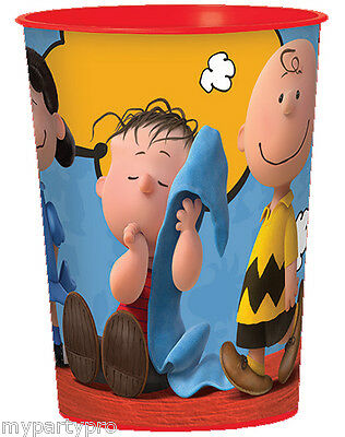 Charlie Brown and Gang Plastic Treat Cups Birthday party supplies FREE SHIPPING (Charlie Brown Party Supplies)
